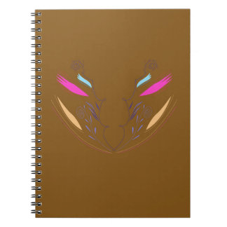 Design elements brown ethno notebooks