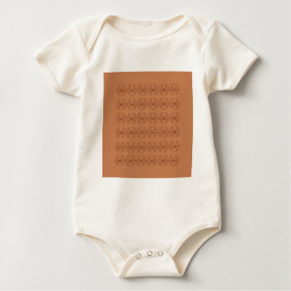 Design elements brown  folk baby bodysuit