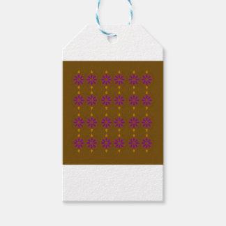 Design elements brown  folk gift tags