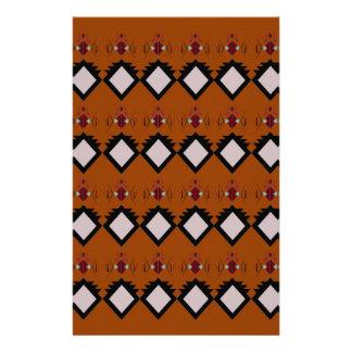 Design elements brown stationery