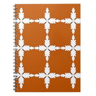 Design elements  brown white notebook