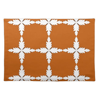 Design elements  brown white placemat