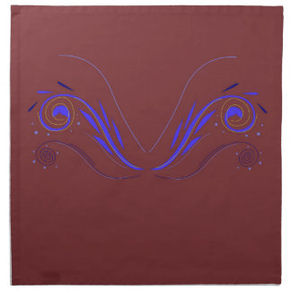 Design elements choco blue napkin