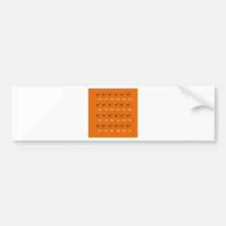 Design elements clay colour bumper sticker