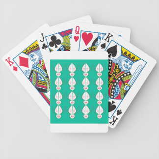 Design elements cyan Ethno with white Bicycle Playing Cards