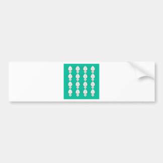 Design elements cyan Ethno with white Bumper Sticker