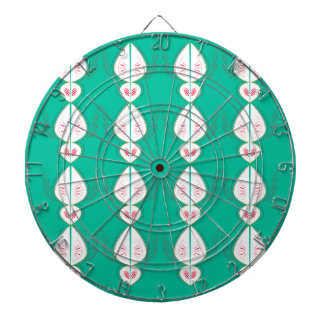 Design elements cyan Ethno with white Dartboard