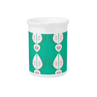 Design elements cyan Ethno with white Pitcher