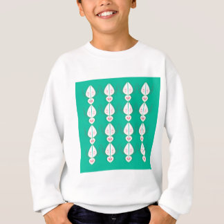 Design elements cyan Ethno with white Sweatshirt