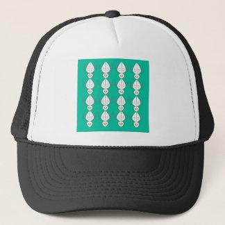Design elements cyan Ethno with white Trucker Hat