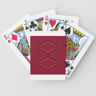 Design elements deep  Red Bicycle Playing Cards