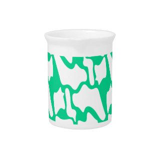 Design elements eco ethno on white pitcher