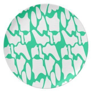 Design elements eco ethno on white plate