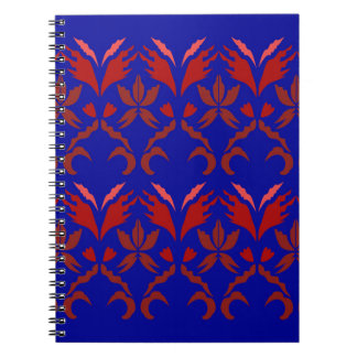 Design elements eco  RED BLUE ETHNO Notebooks