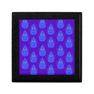 Design elements ethno blue gift box