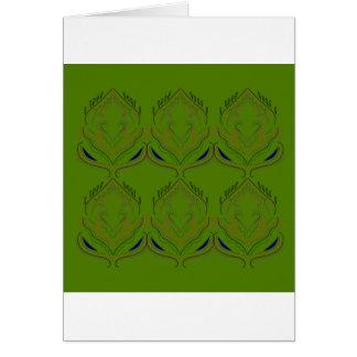 Design elements ethno green eco card