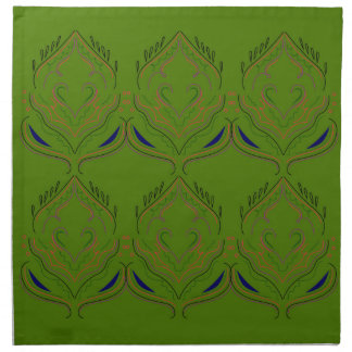 Design elements ethno green eco napkin
