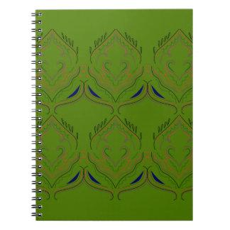 Design elements ethno green eco notebook
