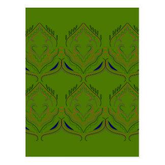Design elements ethno green eco postcard