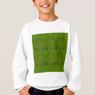 Design elements ethno green eco sweatshirt