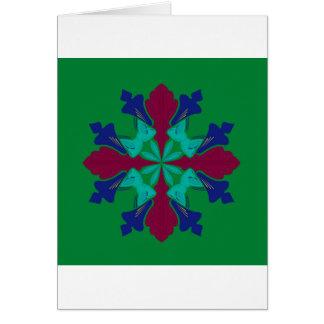 Design elements ethno Mandala green Card