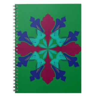 Design elements ethno Mandala green Notebooks