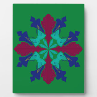 Design elements ethno Mandala green Plaque