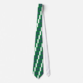 Design elements ethno Mandala green Tie