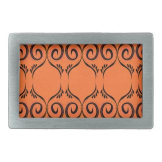 Design elements ethno Orange Rectangular Belt Buckles