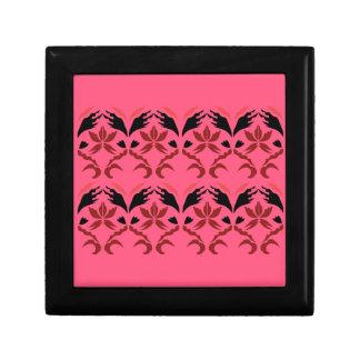 Design elements ethno pink gift box