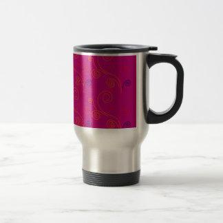 Design elements ethno Pink Travel Mug