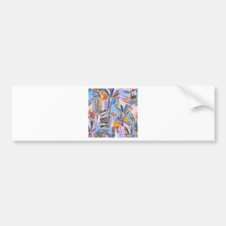 Design elements exotic bumper sticker