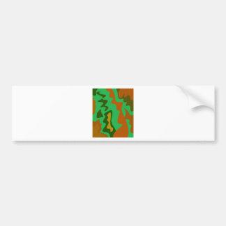 Design elements  exotic Camu green Bumper Sticker