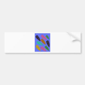 Design elements exotic leaves bumper sticker
