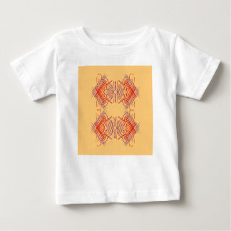 Design elements exotic  Red Beige Baby T-Shirt