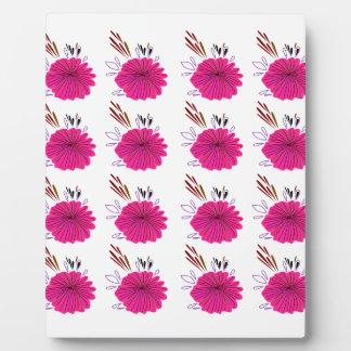 Design elements  Flowers Pink Plaque