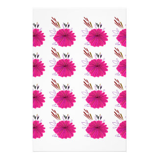 Design elements  Flowers Pink Stationery
