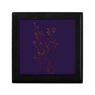 Design elements  Folk blue Gift Box