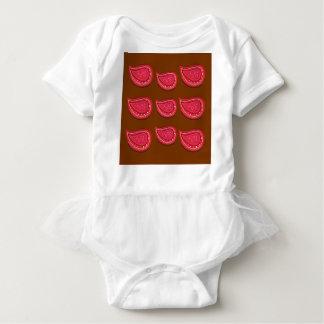 Design elements  Folk  red Baby Bodysuit