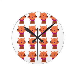 Design elements  Foxes kids edition Round Clock