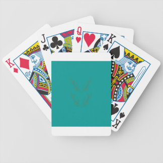 Design elements gold cyan bicycle playing cards