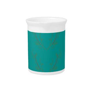 Design elements gold cyan pitcher