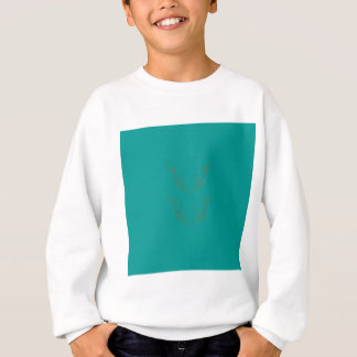 Design elements gold cyan sweatshirt