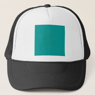 Design elements gold cyan trucker hat