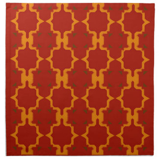 Design elements gold  red napkin