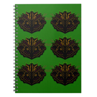 Design elements green black eco notebooks