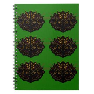 Design elements green Eco black Notebooks