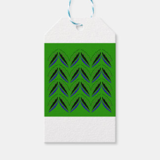 Design elements green eco gift tags