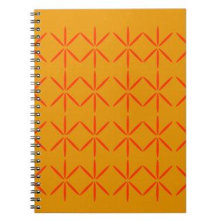 Design elements honey  red notebook