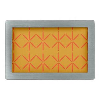 Design elements honey  red rectangular belt buckle